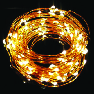 ΛΕΝΤΑΚΙ LED 100L COPPER  WIRE WARM WHITE 10μ.+3μ.ΜΕΤΑΣΧ. COP100WW