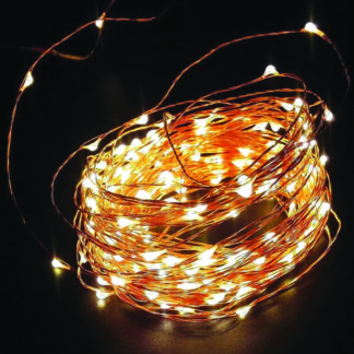 ΛΕΝΤΑΚΙ LED 200L COPPER  WIRE WARM WHITE 20μ.+3μ. .ΜΕΤΑΣΧ. COP200WW
